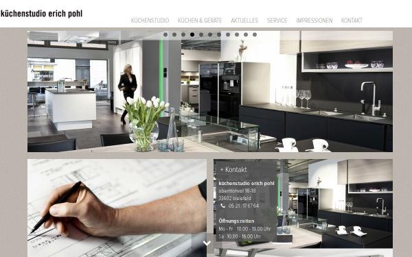 K chenstudio erich pohl ist mit neuer internetseite online for Kuchenstudios in bielefeld
